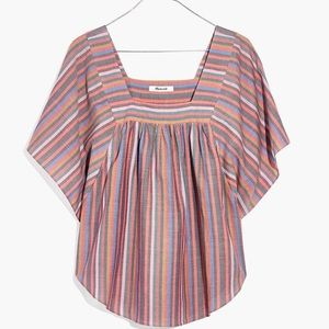 Madewell Tops - 🆕 Madewell Butterfly Top in Rainbow Stripe